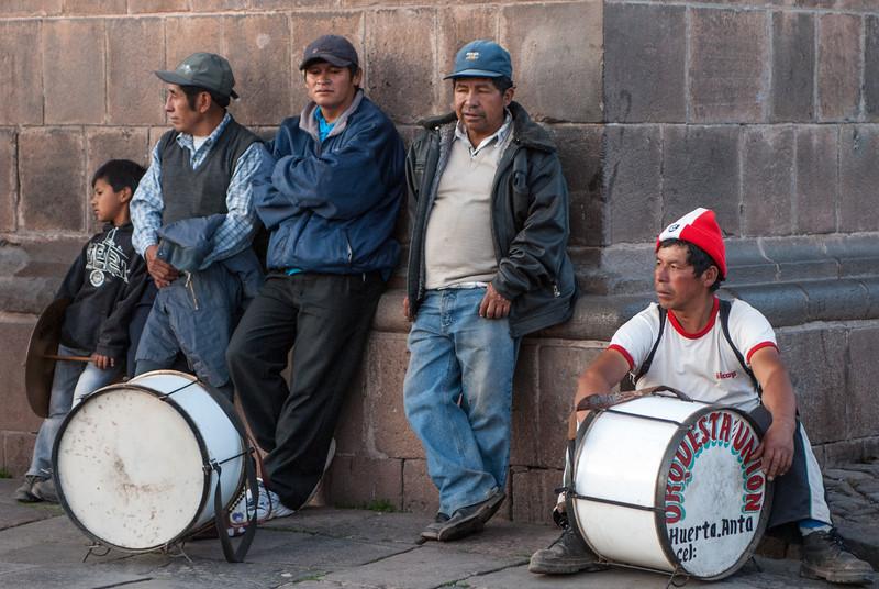 Musician from Anta during the celebrations of La Virgen Asunta - Plaza de Armas - Cusco - Peru