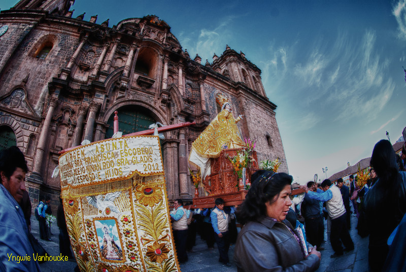 Celebrations of the Virgen Asunta at the cathedral - Plaza de Armas - Cusco - Peru