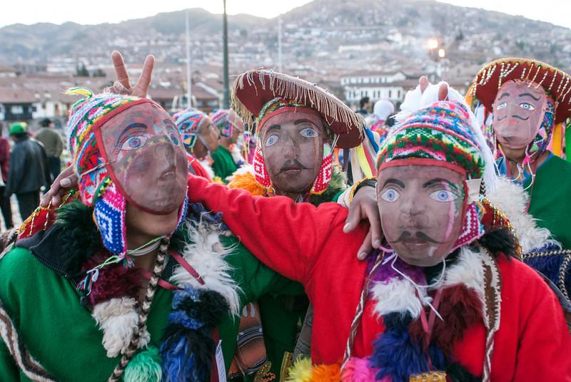 Folklore on the main square during the Virgen del Carmen festivities - Plaza de Armas - Cusco - Peru
