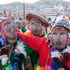Folklore on the main square during the Virgen del Carmen festivities - Plaza de Armas - Cusco - Peru