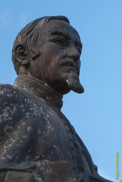Bust of bishop Manuel Mollinedo y Angulo - Plaza de las Nazarenas - Cusco - Peru