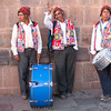 Musicians during the celebrations of La Virgen del Carmen - Plaza de Armas - Cusco - Peru