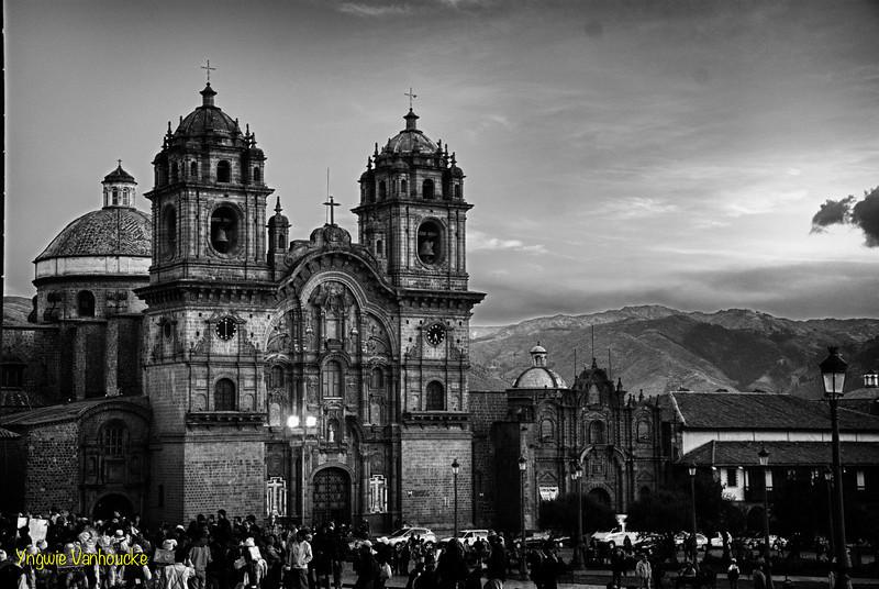 La Compañía de Jesús (1576) on the main square built on the Inca Huayna Capac palace- Plaza de Armas - Cusco - Peru