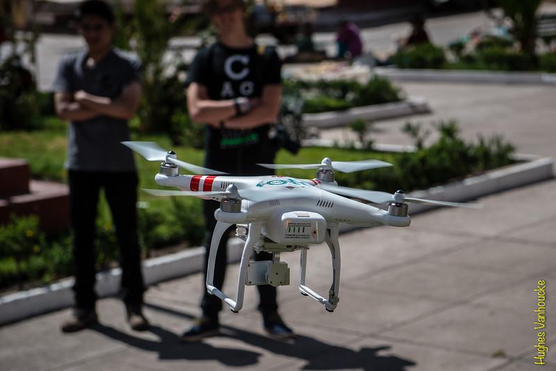 DGI Phantom 2 Vision Plus drone @ Plaza de Armas, Checacupe, Cusco, Peru