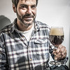 Owner Albito Alonso tasting a Westvleteren 12, one of the world's best craft beers made by monks - Eusebio & Manolo Coffee Shop - C/. Carmen Alto 116 - San Blas - Cusco - Perú