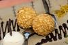 Trufas de chocolate fritas aromatizadas al Cointreau con helado de vainilla y confitura de naranjas - El Huacatay - Jr. Arica 620 - Urubamba - Valle Sagrado de los Incas - Cusco - Perú<br /> <br /> Fried chocolate truffles flavored with Cointreau, vanilla ice cream and orange marmalade @ El Huacatay - Jr. Arica 620 - Urubamba - Sacred Valley of the Incas - Cusco - Peru<br /> <br /> Gebakken chocolade truffels op smaak gebracht met Cointreau, vanille-ijs en sinaasappel marmelade - El Huacatay - Jr. Arica 620 - Urubamba - Heilig Dal van de Inca's - Cusco - Peru<br /> <br /> Truffes au chocolat frites assaisonnées au Cointreau, crème glacée à la vanille et marmelade d'oranges - El Huacatay - Jr. Arica 620 - Urubamba - Vallée Sacrée des Incas - Cusco - Pérou