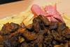 Mollejtias con papas fritas & salchicha en Yola - Av. Pardo (detras del correo) - Cusco - Perú<br /> <br /> Sweetbreads with fries & sausage @ Yola - Av. Pardo (behind post office) - Cusco - Peru<br /> <br /> Zwezeriken met frietjes & worst bij Yola - Av. Pardo (achter postkantoor) - Cusco - Peru<br /> <br /> Ris de veau avec frites & saucisse de Frankfort chez Yola - Av. Pardo (derrière la poste) - Cusco - Pérou