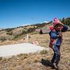 Flying a selfmade kite - Cuyuni - Quispicanchi - Cusco - Peru