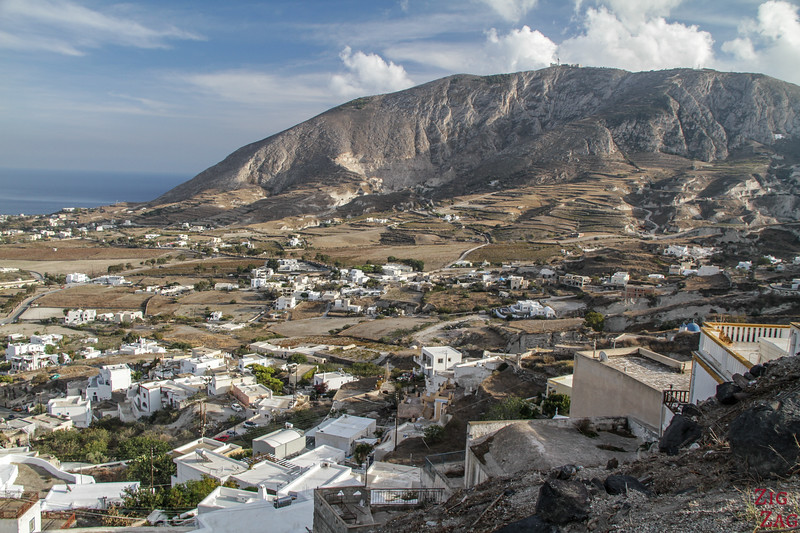 Les paysages de Santorin - hors des sentiers battus - cote est