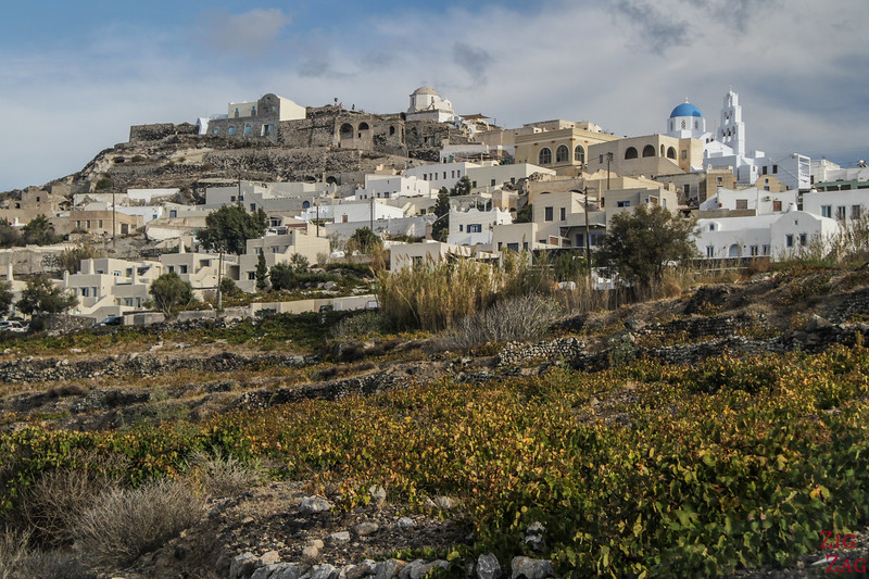 Dorf Pyrgos Santorini