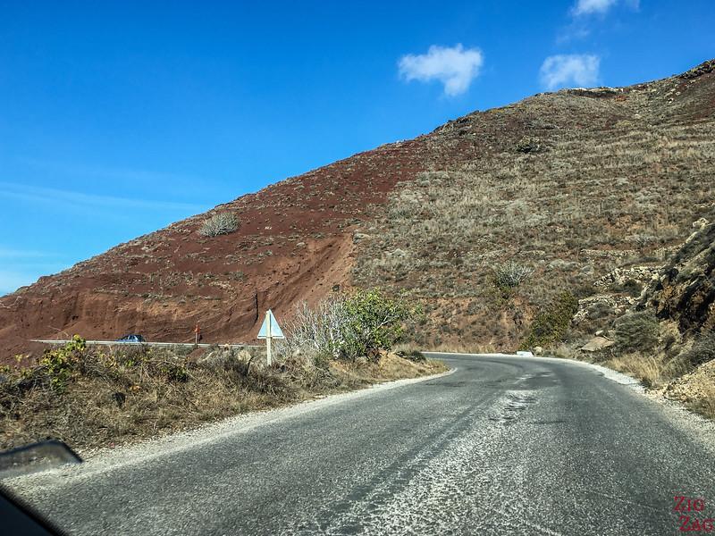 Fahren auf Santorini