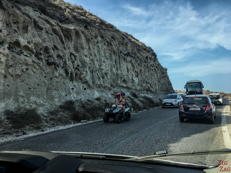 Is driving in Santorini safe?