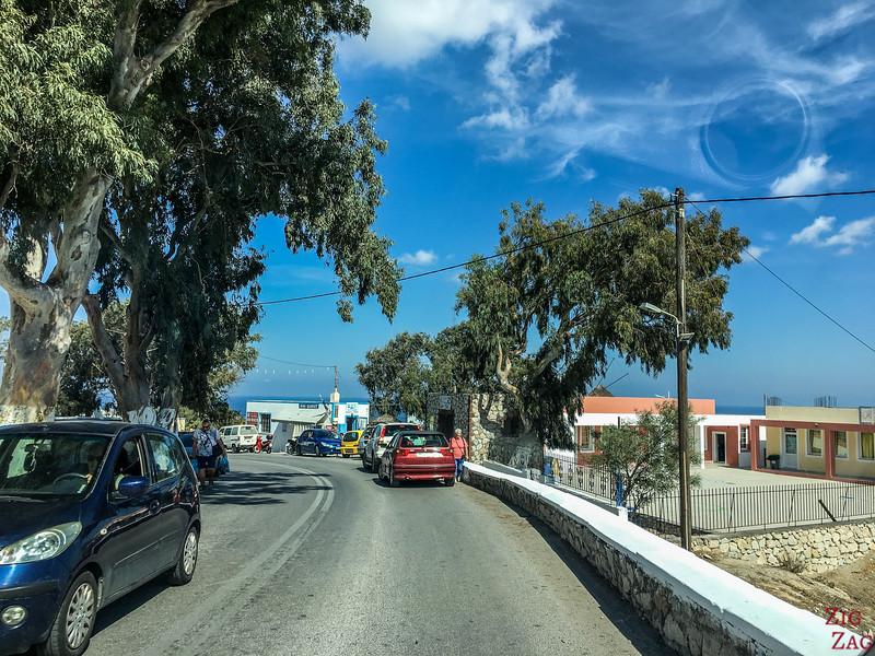 Fahren auf Santorini - strassen