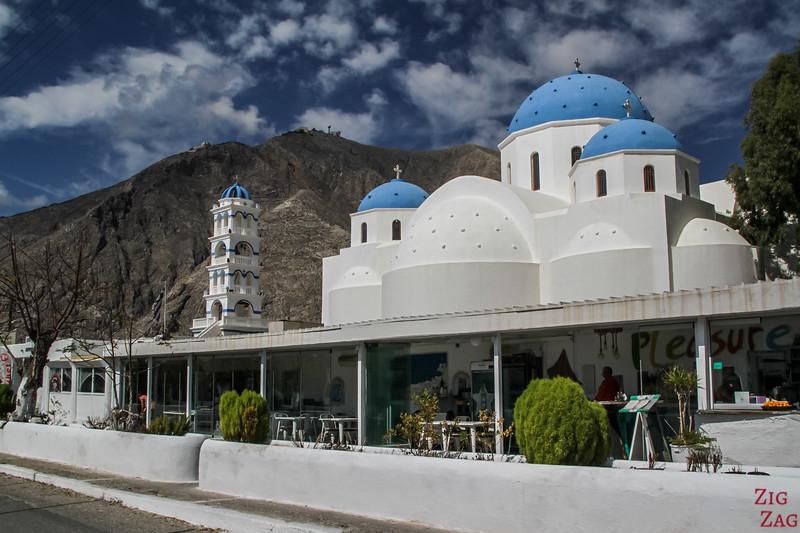 Where to stay in Perissa - church