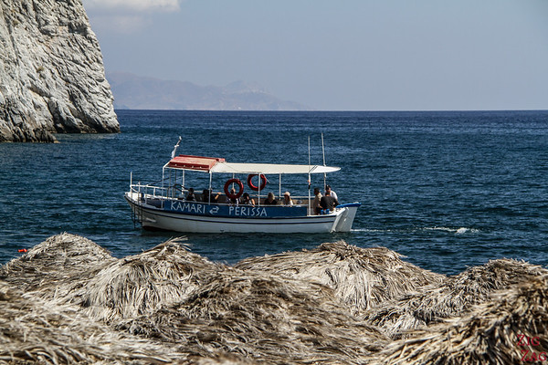 Getting around Santorini without a car - Boats