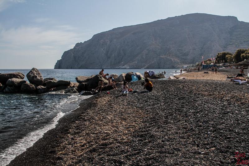 Plage de KamariMain Santorini beaches - Kamari