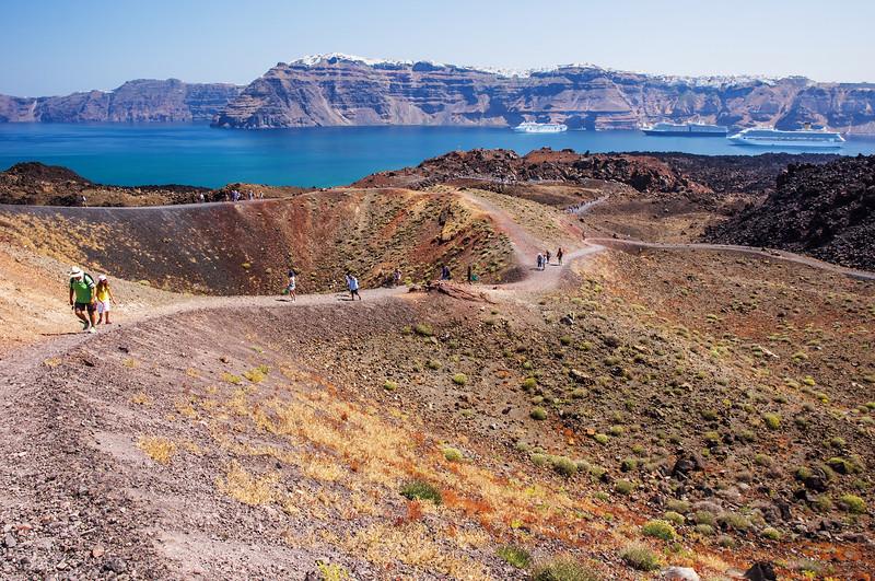 Santorini Scenery - off the beaten path Volcano
