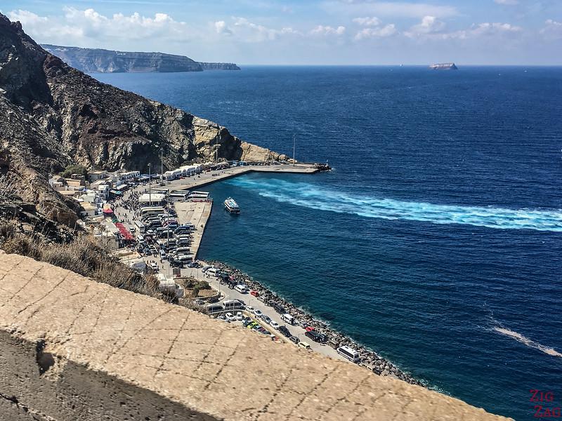 Wo Sie Ihr Auto in Santorini mieten können - Hafen