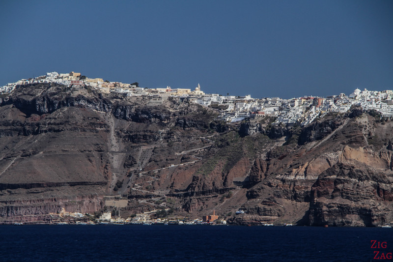 Santorini boat tour - cheap alternative - view from ferry 3