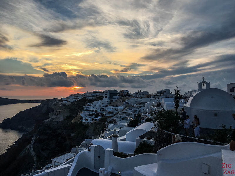 Clouds over Santorini