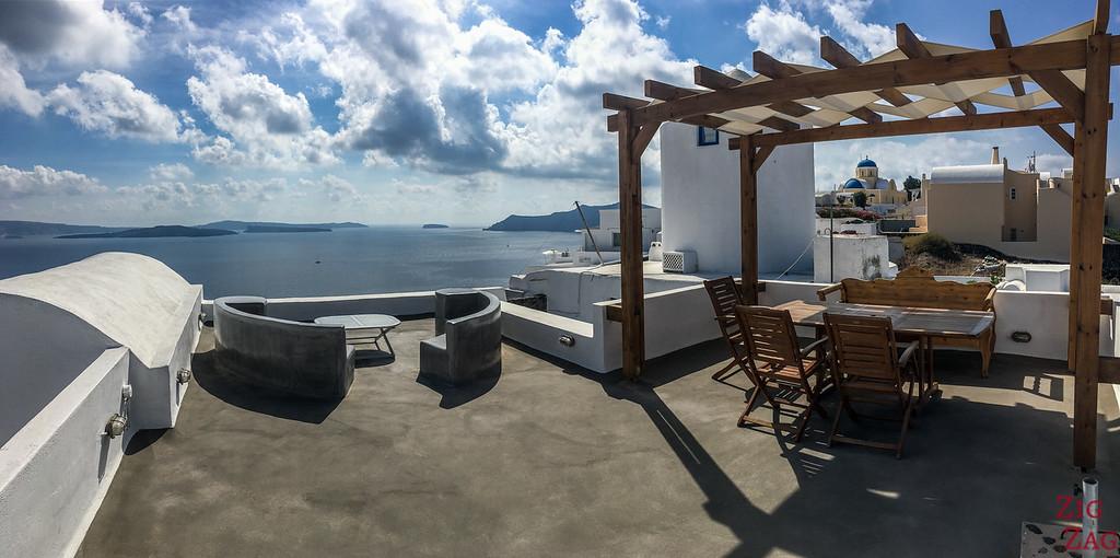 Se loger à Santorin avec vue