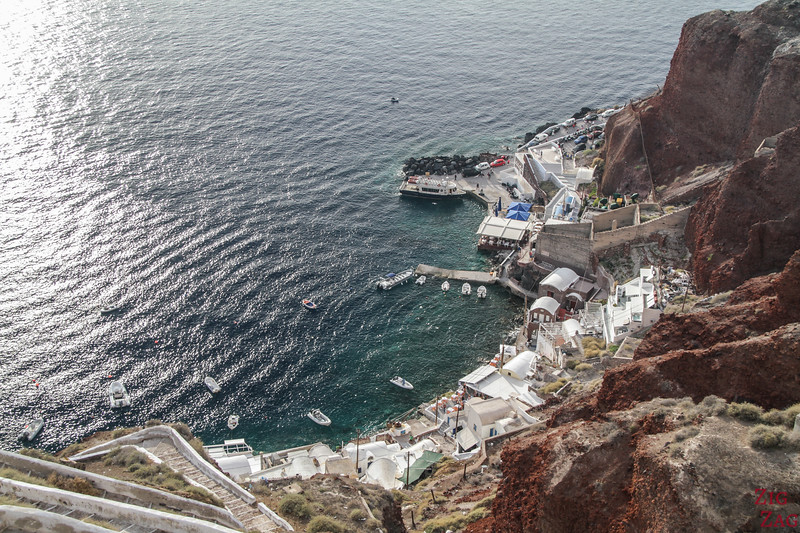 best things to do in Santorini - Amoudi Bay