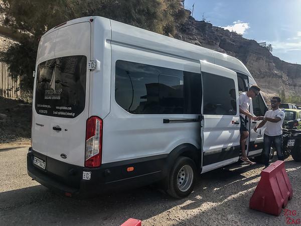 Tour en catamaran à Santorin - pick up