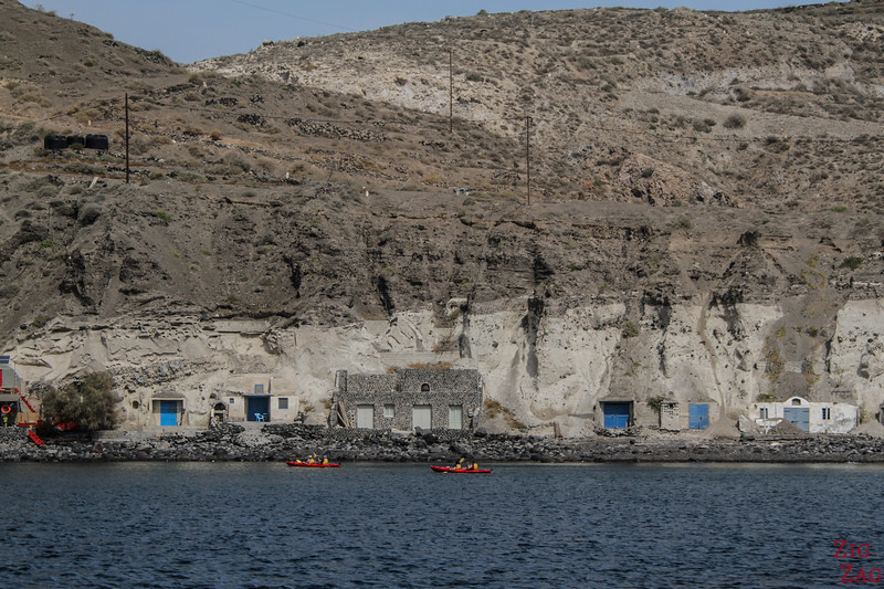 Kayaking in Santorini