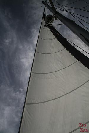 Tour en catamaran à Santorin - voile