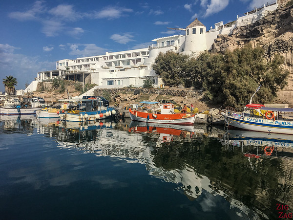 Tour en catamaran à Santorin - marina