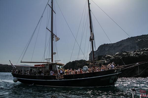 Tour en bateau Santorin 2