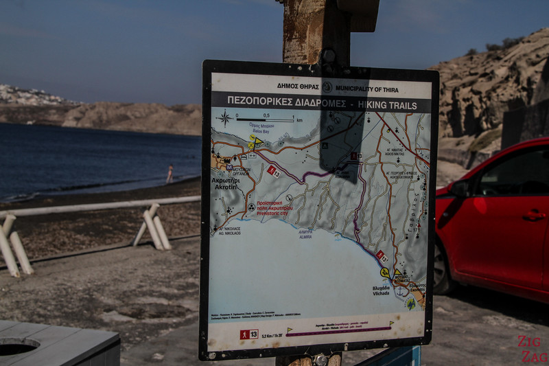Hiking in Santorini - Trail 13 map