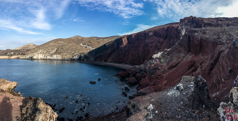 Santorini's Red Beach Viewpoint 1