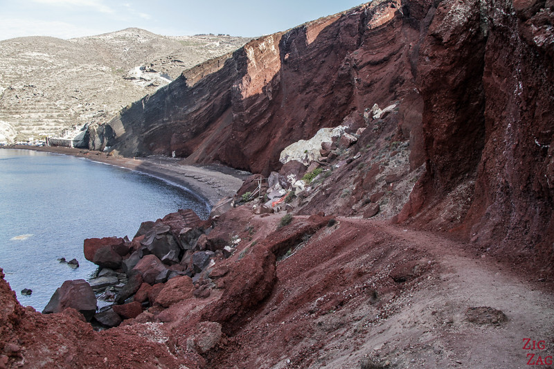 Access to Red Beach - dangerous & closed 2