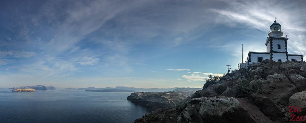 Santorini Scenery - off the beaten path Arkotiri lighthouse
