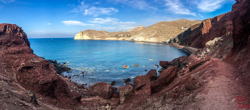 best things to do in Santorini - Red beach