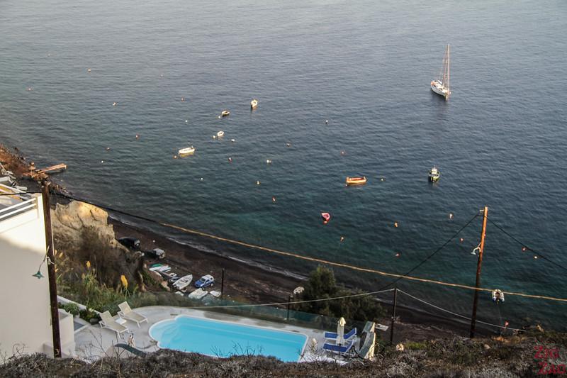 vue sur Caldera beach
