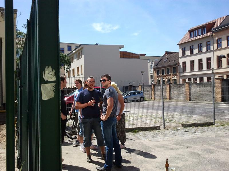 Miesten päivän viettoa Rostockissa