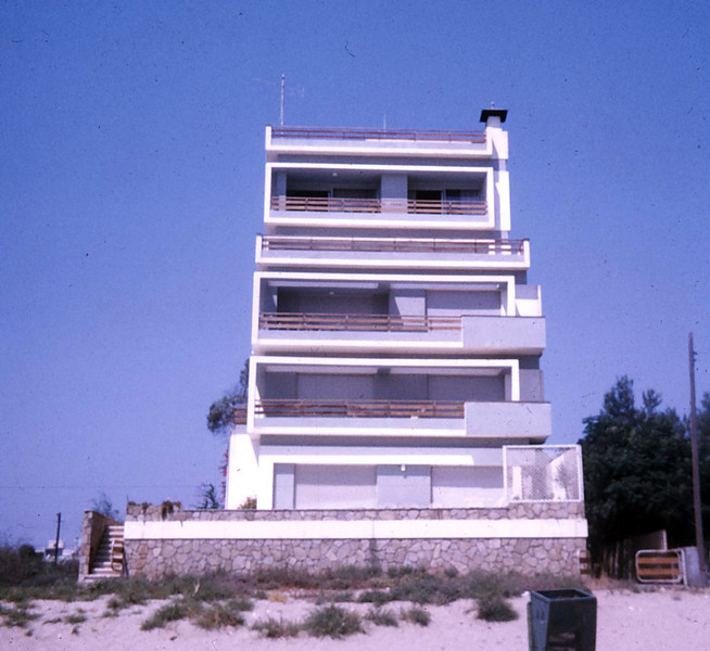 "<h2>The original ""Golden Seaside""</h2><div class=""imagecaption"" id=""imagecaption""><p class=""caption""> This is how Golden Seaside looked when first built in 1967/8. It was a 5-storey building where the first 2 floors was our house and the rest were large apartments. This all changed in 1972 when it was turned to a Hotel Apartments when 2 floors were added and the block was completely refurbished. My parents Kamares Taverna which was previously at Esperides Street also moved here occupying the ground floor.  </div>"