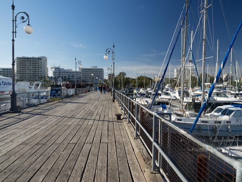 Larnaca Marina wooden pier