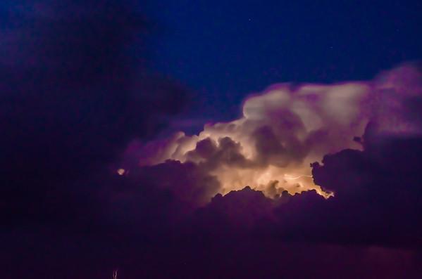 Thunderstorm over the Ocean