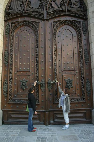 Door at Castle Hluboka, southern Bohemia.<br /> September 7, 2009