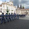 Prague Castle guard marching.