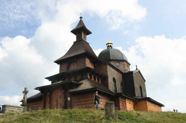 Chapel on the summit of Radhost dating from 1898, Beskydy Mountains in Northern Moravia.<br /> September 13, 2009