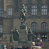 "Patron saint of Bohemia, St Vaclav (Wenceslas), Wenceslas Square, Prague.<br /> Favorine meeting place. Meet me ""under the horse"" I used many times to link up with friends.Close to Museum Metro staion, not far from the main railroad staion.<br /> September 2, 2009"