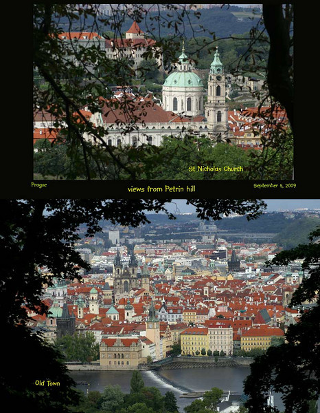 Wandering down the trail on Petrin Hill, the views of Prague are beautiful.<br /> September 4, 2009