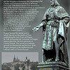 The statue of king Charles IV near Charles Bridge.<br /> Prague, September 4, 2009
