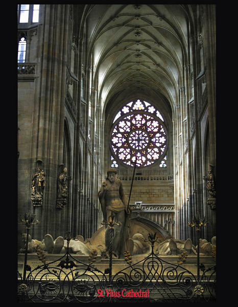 St. Vitus Cathedral. The Rose window from inside.<br /> September 2, 2009