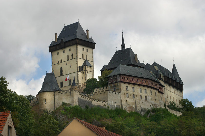 KARLSTEJN Castle was built by Charles IV to protect the crown jewels and state documents.<br /> September 6, 2009