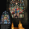 Beautiful stained glas windows  of St. Vitus Cathedral.<br /> Prague, September 2009